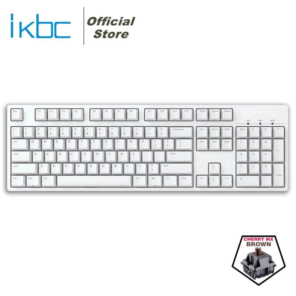 IKBC C104 White Mechanical Keyboard - Cherry MX Brown