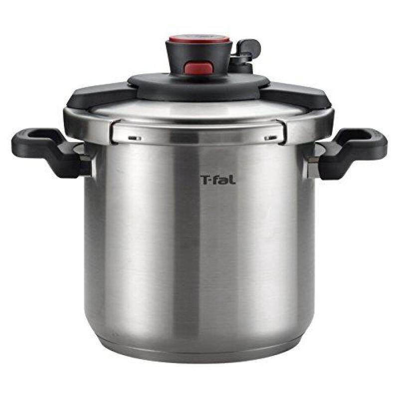 T-fal P45009 Clipso Stainless Steel Dishwasher Safe PTFE PFOA and Cadmium Free 12-PSI Pressure Cooker Cookware, 8-Quart, Silver Singapore