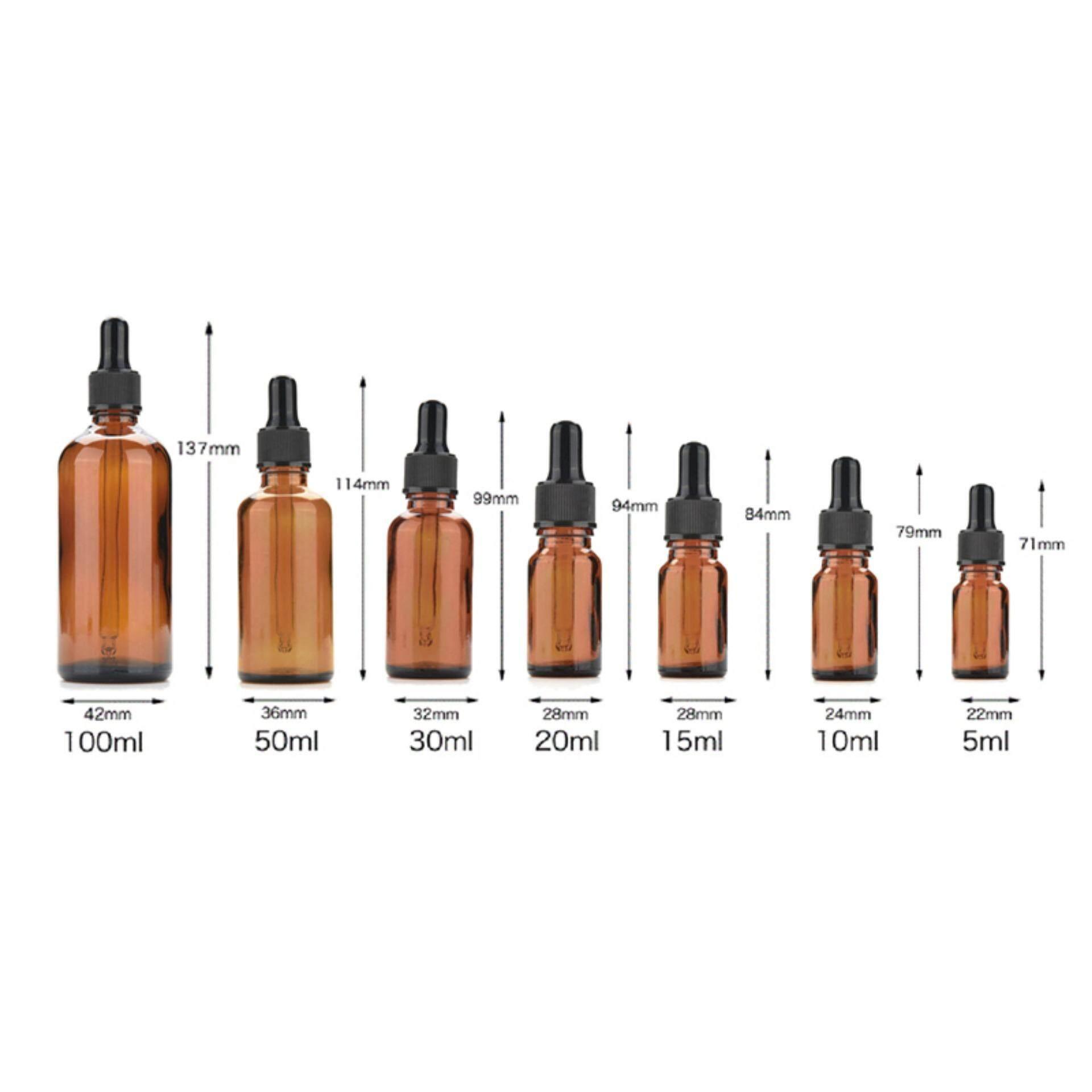 Fitur New 5ml 100ml Amber Glass Liquid Reagent Pipette Bottle Eye Botol Pipet Kaca 30 Ml 30ml Dropper Aromatherapy 4