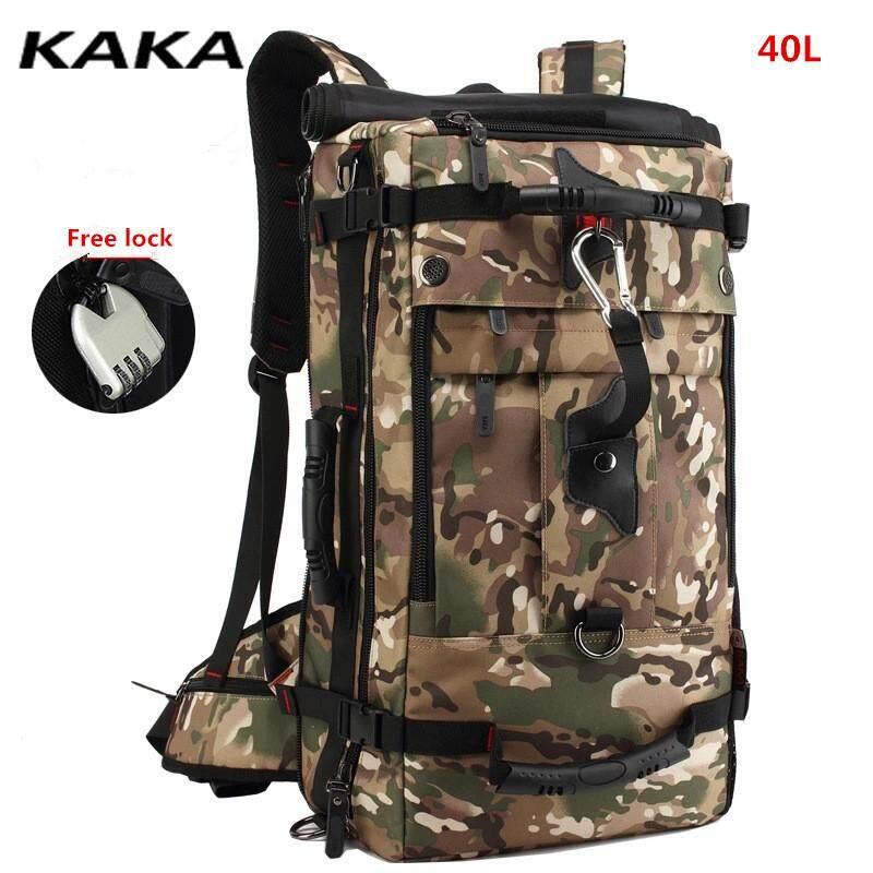 Kaka 50l Huge Capacity Waterproof Backpack Men Hiking Shoulder Bags Travel Luggage By Home Of Yiqi.
