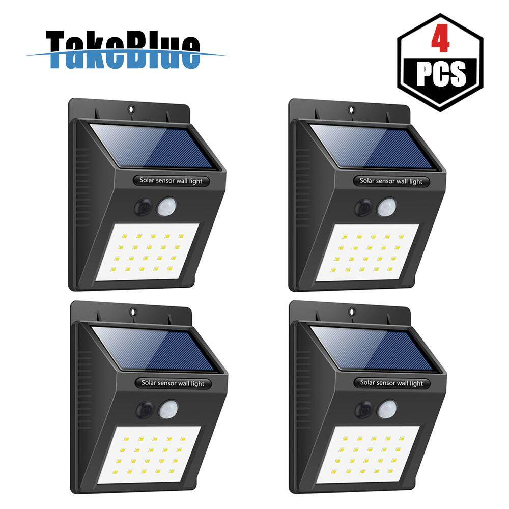 Home outdoor lighting buy home outdoor lighting at best price in takeblue 20 led solar lights outdoor 3 intelligent modes waterproof solar powered motion sensor aloadofball Image collections