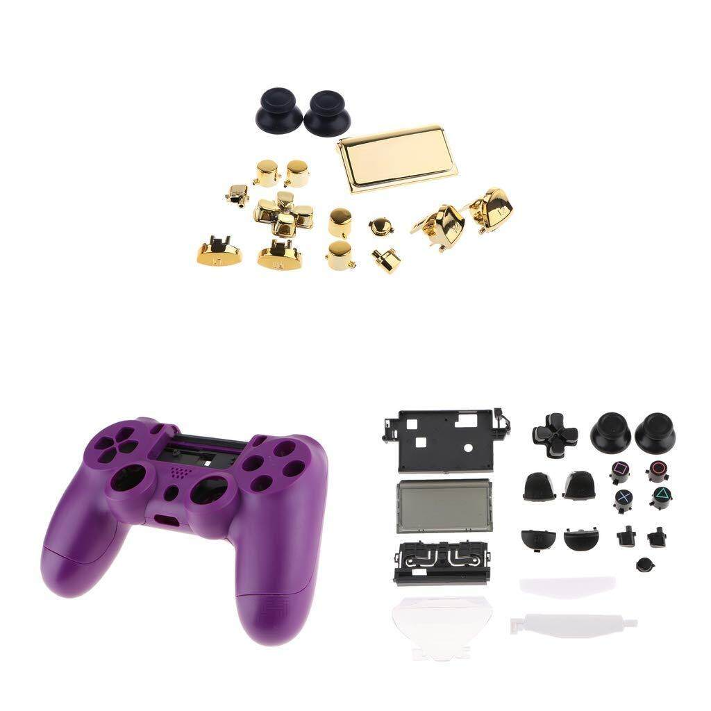 Full Housing Repair Parts with Buttons Replacement Cover Kit for Sony PlayStation 4 PS4 Controller