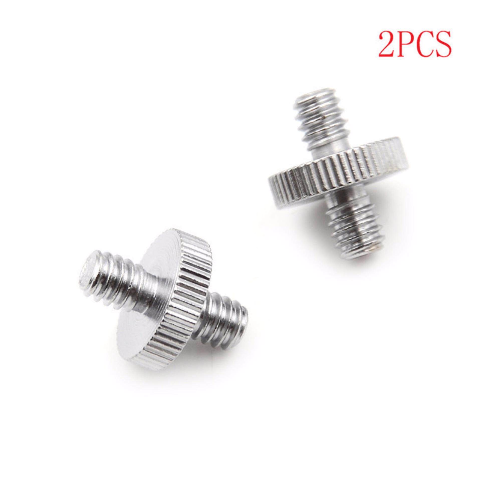 2pcs 1/4 1/4 Male To 1/4 Male Threaded Screw Adapter Double Head Screw