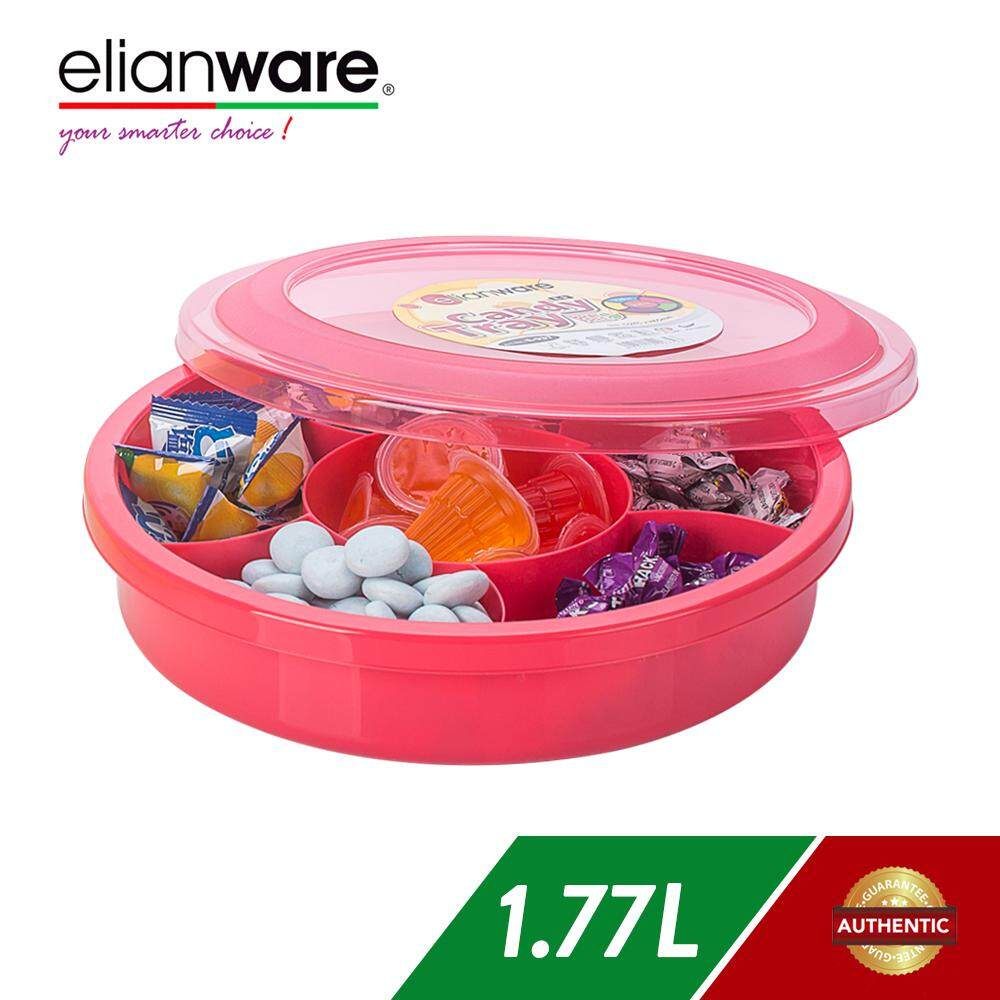 Elianware 1770ml BPA FREE Candy Tray (6 Compartments) Bekas Kuih Raya