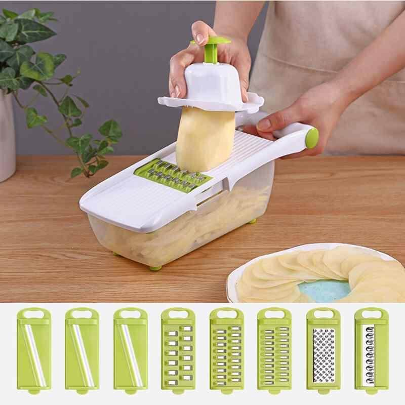 WULI 10PCS/Set Vegetables Grater Portable Slicer Set Slicer Realeos Vegetable Chopper Dicer Cutter Storage Container Set