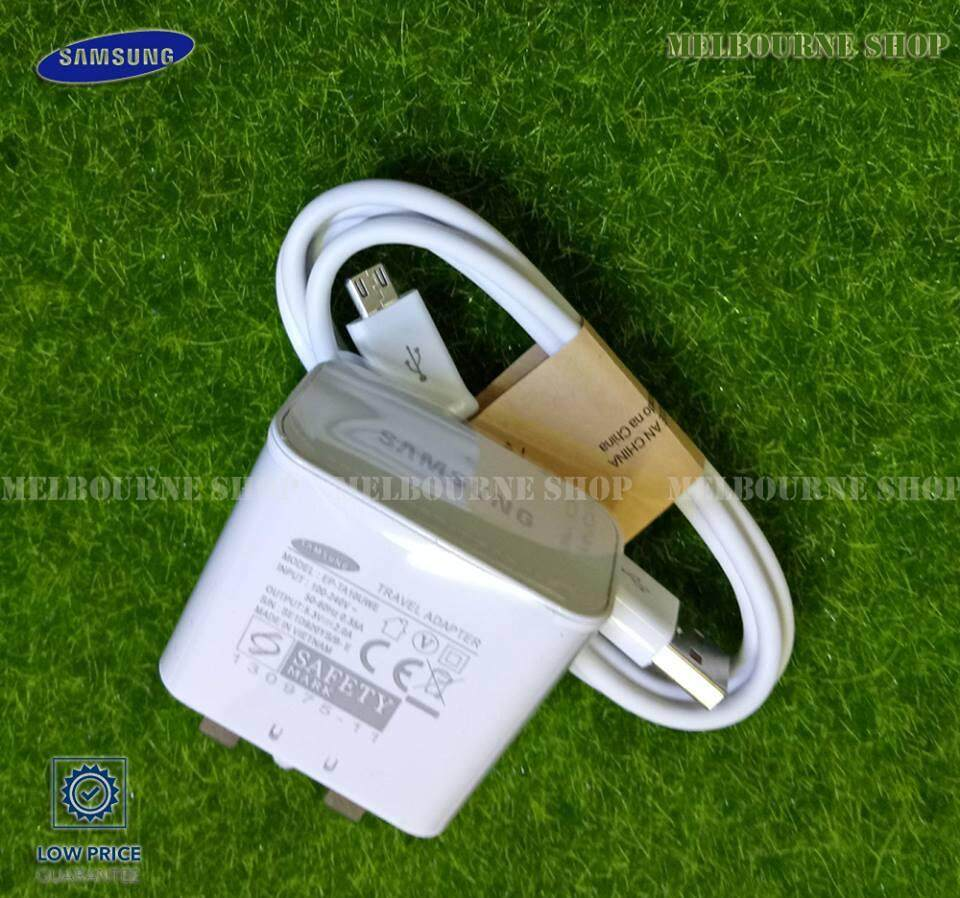 Samsung Charger for All Samsung Device + Micro USB Cable (White)