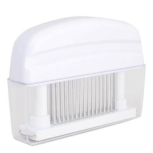 (White)Meat Tenderizer 48 Blade Stainless Steel Kitchen Handheld Machine XL for Chicken, Steak, Beef, Pork, Fish