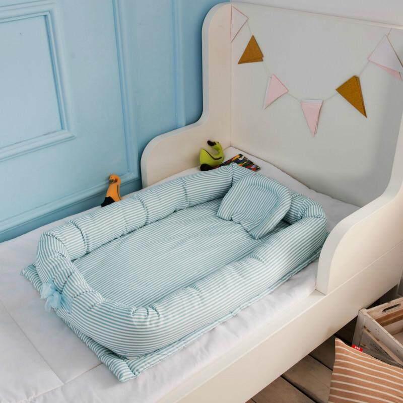 ทารกแรกเกิดแบบพกพาคอกเด็ก Multifunctional เนอสเซอรี่พับเตียงสนามกับกันชนที่นอน - Intl By Open Global.
