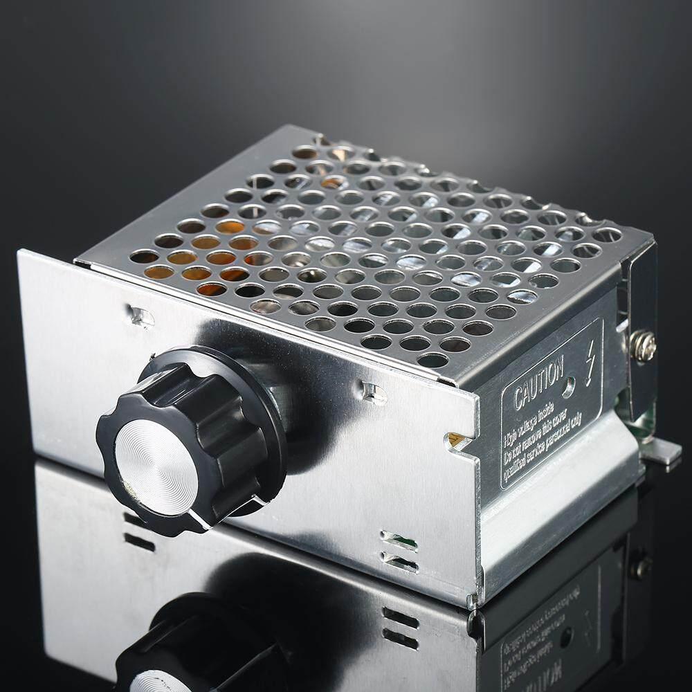 4000 W AC220V High-Power SCR Pengatur Tegangan Elektronik Dimmer Thermostat Pengontrol Kecepatan Suhu Gubernur