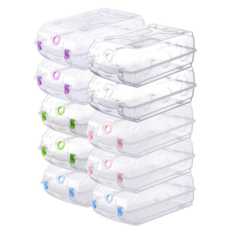 [Tmall Signature] Na Mei Jia Plastic Transparent Simplicity Shoe Box Shoe Organizing Storage Box Large Size 10 Pieces