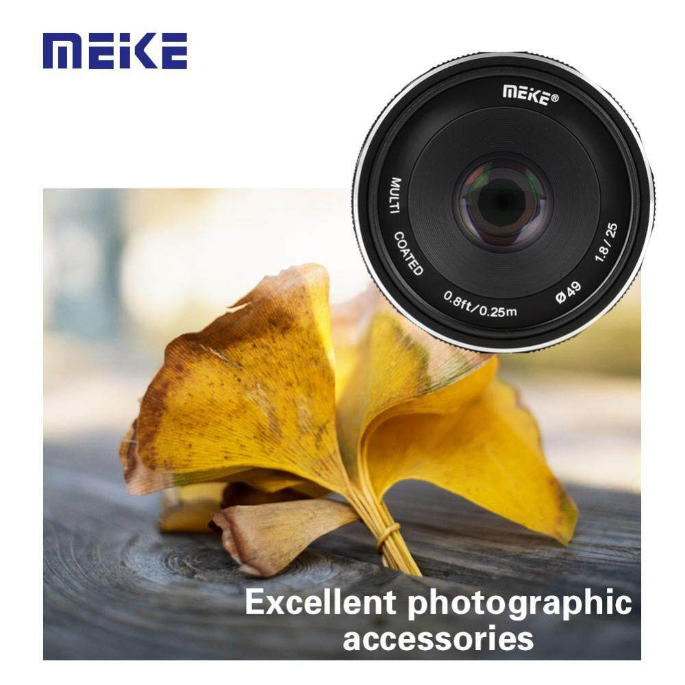 Buy Sell Cheapest Meike 2 4g Best Quality Product Deals Lensa 35mm F17 For Sony Fujifilm Canon Lumix Olympus Mirrorless 25mm F18 Manual Wide Angle Focus Aps C Lenses Cameras