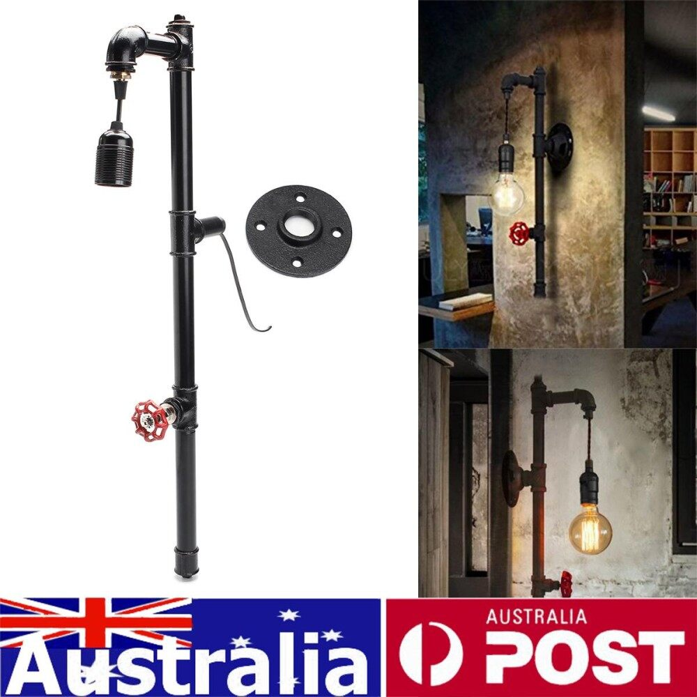 27 E27 Industrial Pipe Wall Light Vintage Retro Lighting Sconce Lamp Fixtures