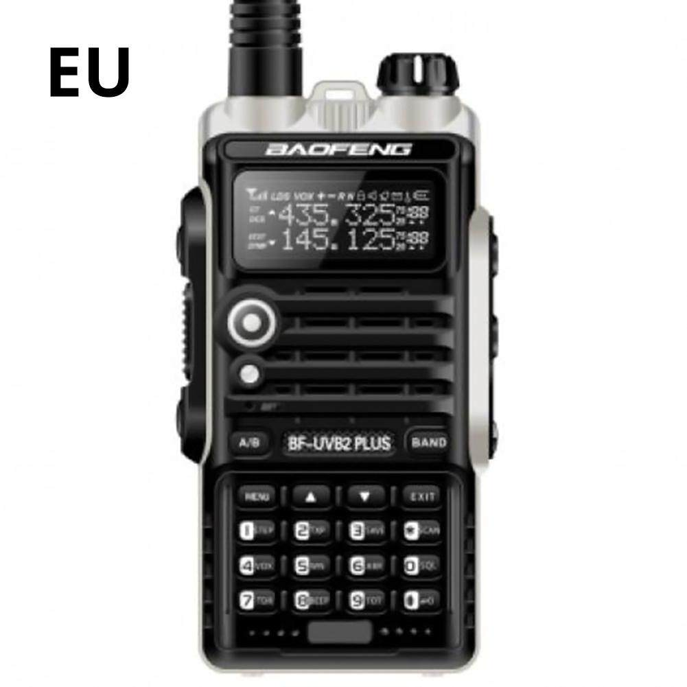 1 Pcs Baofeng Walkie Talkibf-Uvb2plus Vhf/uhf Dual Band Dcs Ham Dua Cara Transceiver By Storeshop.