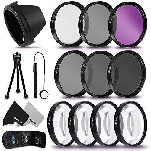 PRO 58MM Lens Filters + 58mm Lens Hood KIT for CANON EOS 70D 60D 7D 6D 5D 5DS 5DSR 7D EOS REBEL T6i T6S T5 T5i T4i T3 T3i T2i SL1 EOS 760D 750D 700D 650D 600D 550D 1200D 1100D 100D Cameras and Lenses