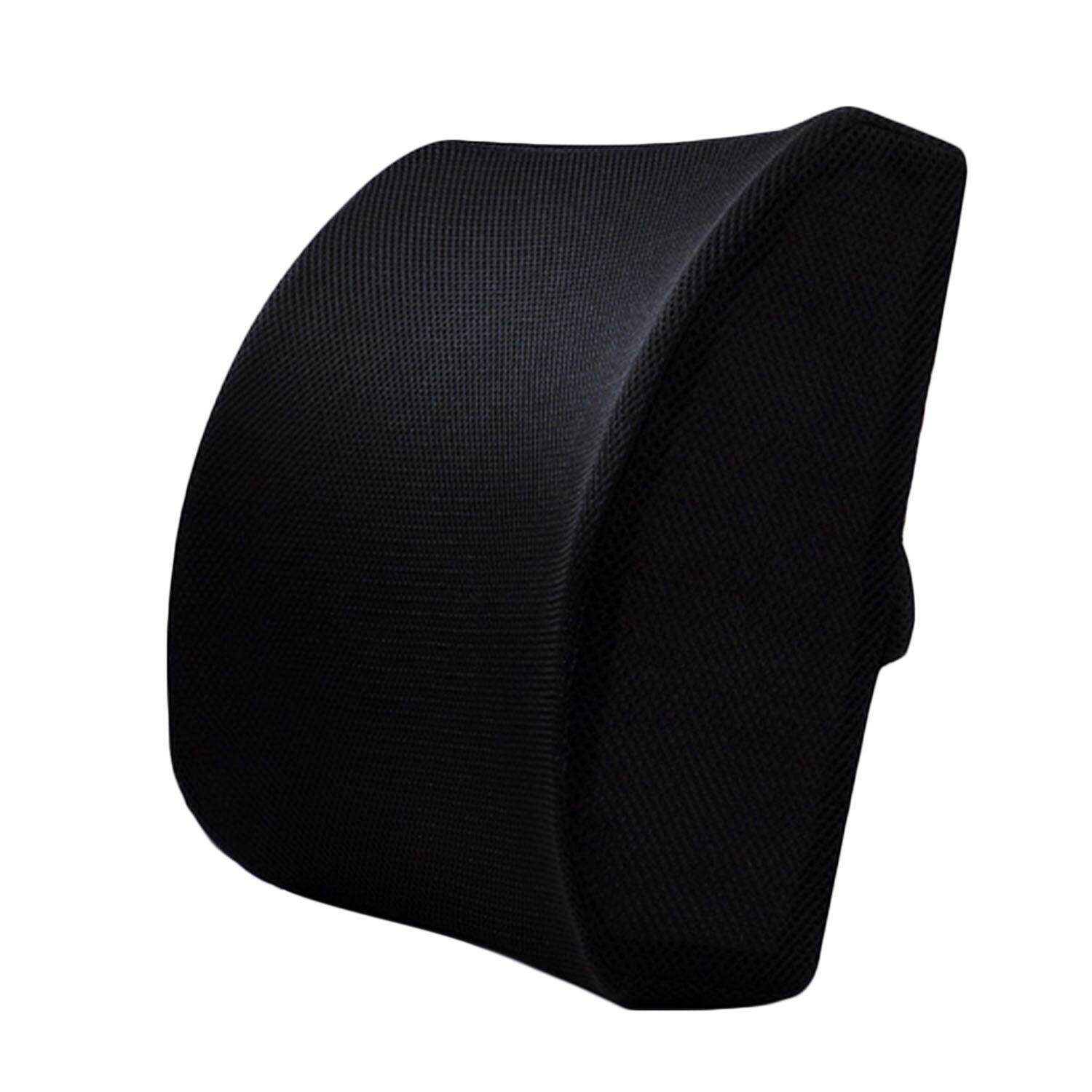 Comfort Memory Foam Office Chair Car Sofa Seat Back Cushion Lumbar Support Pillow With Dual Adjustable