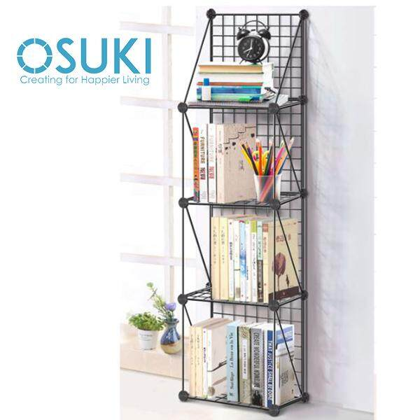 OSUKI Metal Bookshelf Multipurpose Display Rack (4 Level)