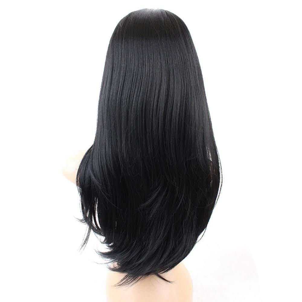 ... Radocie Wanita Panjang Longgar Lurus Syntheic Wig Rambut Palsu Bagian  Depan Penuh Curly Wig Rambut Natural ... 8d4279b1aa
