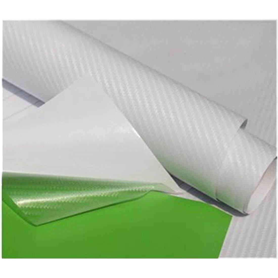 DIY 30x127 3D Carbon Fiber Decal Vinyl Film Wrap Roll Adhesive Car Sticker  Sheet Transparent