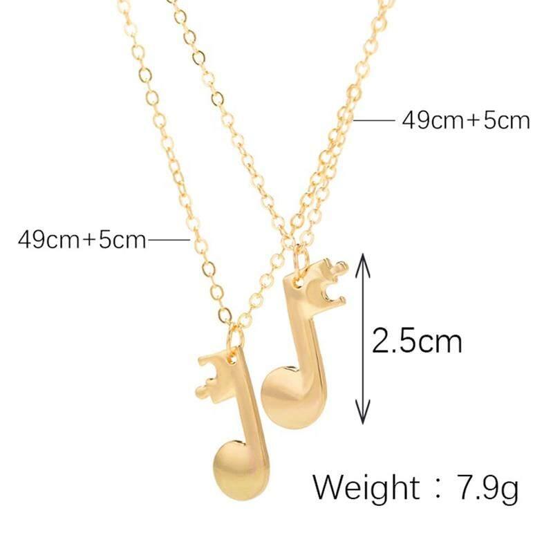 Detail Gambar Fancyqube 2pcs/set Mucis Note Pendant Necklaces Personalized Design Best Friend Necklace Couple Music Necklace Simple Fashion Jewelry Terbaru