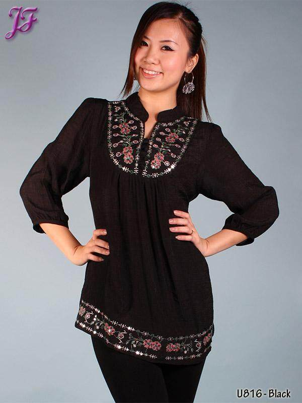 JF Fashion Cotton Blouse with embroidery U625 and U816