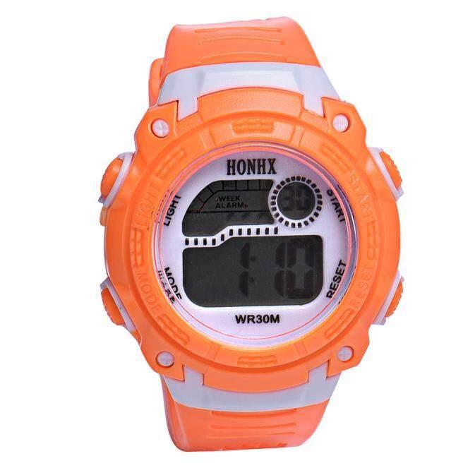 VRE Whatch Toko Anak Perempuan Jam Tangan QUARTZ LED Digital Alarm Jam Tangan Olahraga Terkini Ye