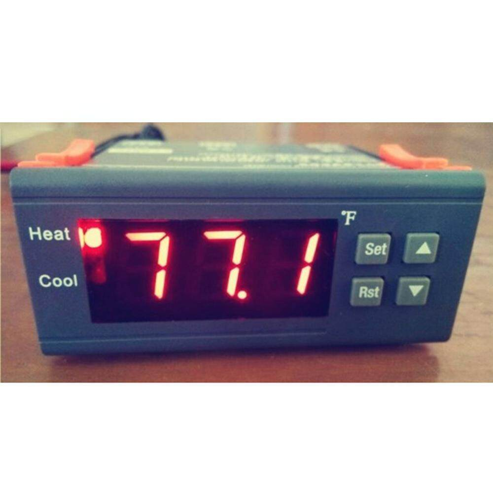 Features Two Relay Output Led Digital Temperature Controller Stc1000 Microcomputer 220v W Sensor 10a Temp Thermostat