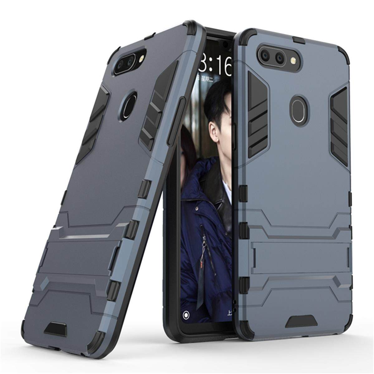 Hình ảnh for OPPO R15 Case 2in1 PC+TPU Hybrid Slim Back Case Ultra Thin Armor Cover, with Kickstand Holder, Glossy, Minimalist, Casual