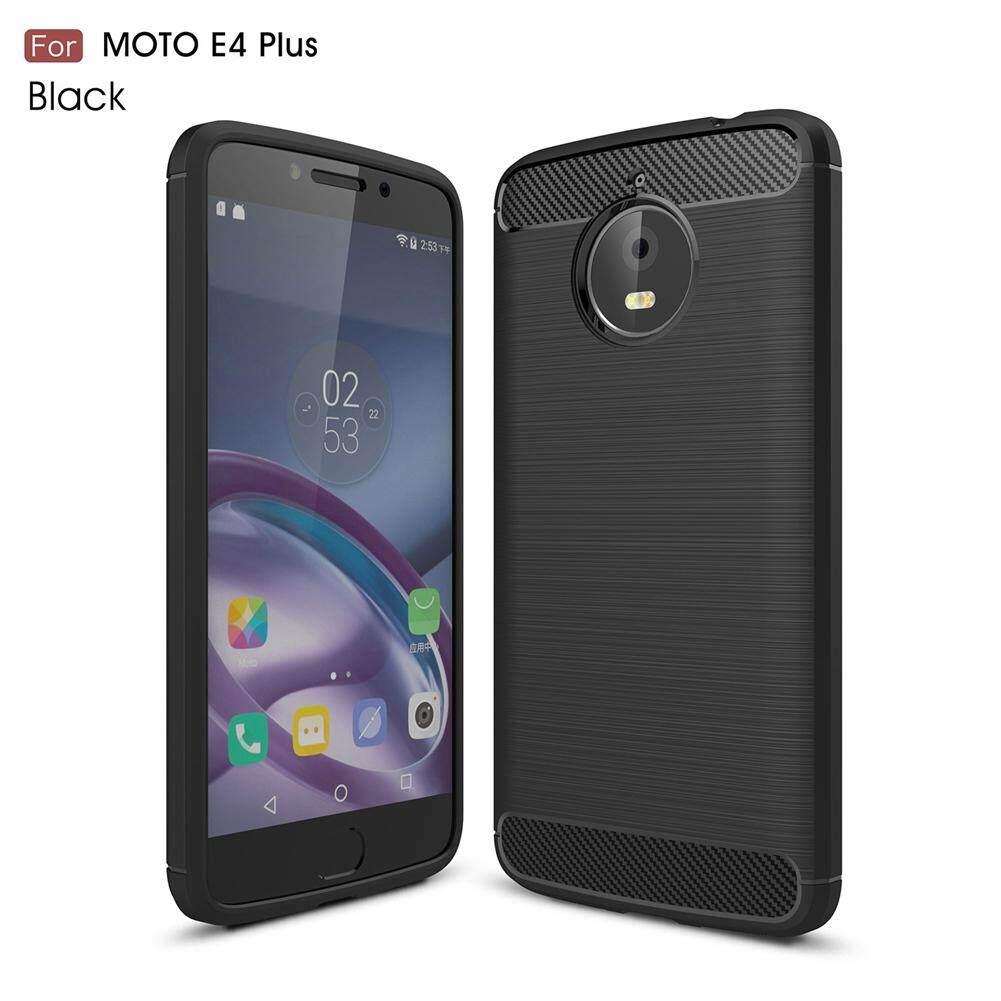 Upaitou Lembut Casing Motorola Moto E4 Plus Mewah Brushed TPU Case dengan Tekstur Serat Karbon Desain Silikon PERLINDUNGAN PENUTUP UNTUK Moto e4 Plus Potongan Pas Badan Casing Ponsel-Intl