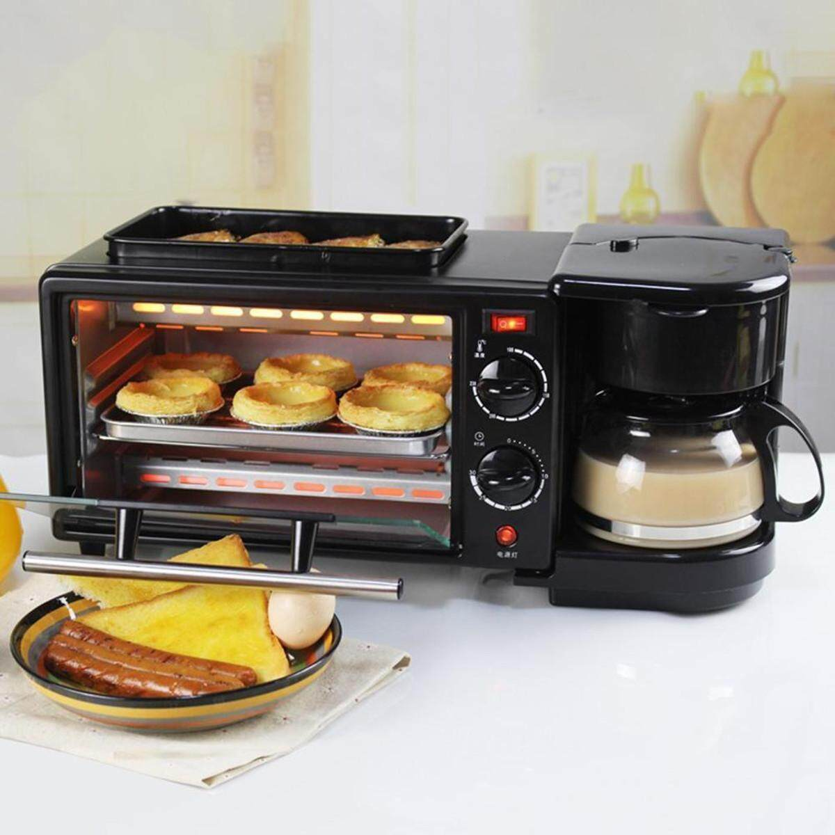 ยี่ห้อนี้ดีไหม  นครปฐม 3 In 1 Breakfast Machine Coffee Maker Frying Pan Bread Toaster Electric Oven