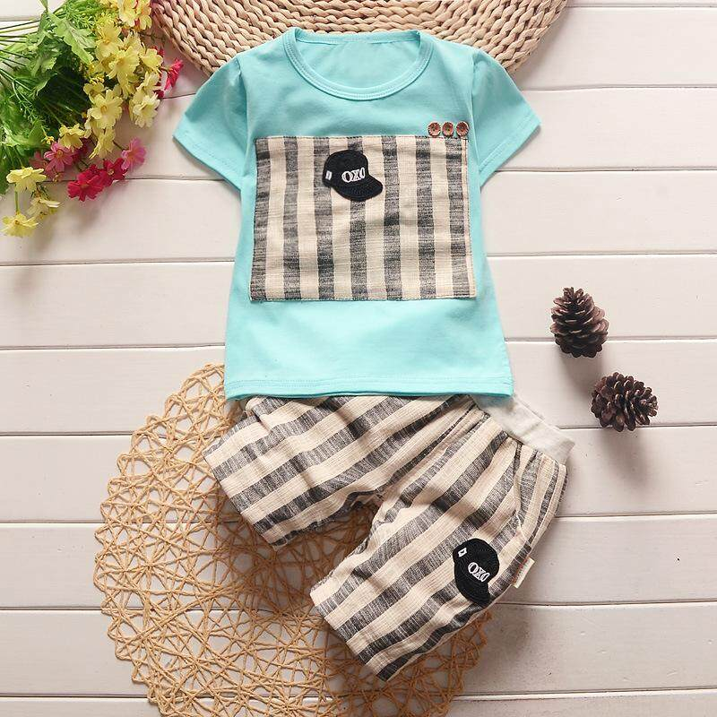 Kids Summer Clothing Set Baby Boy Cotton t-shirt Short Pants Children Set For Summer