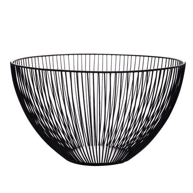 Creative Fruit Tray Drain Basket Household Iron Fruit Bowl Storage Basket Fruit Basket Free Shipping