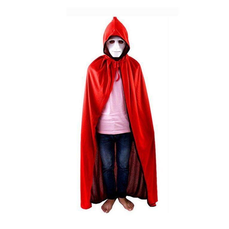 Halloween Masquerade Double-sisi Partai kematian Cosplay vampir penyihir jubah 120cm