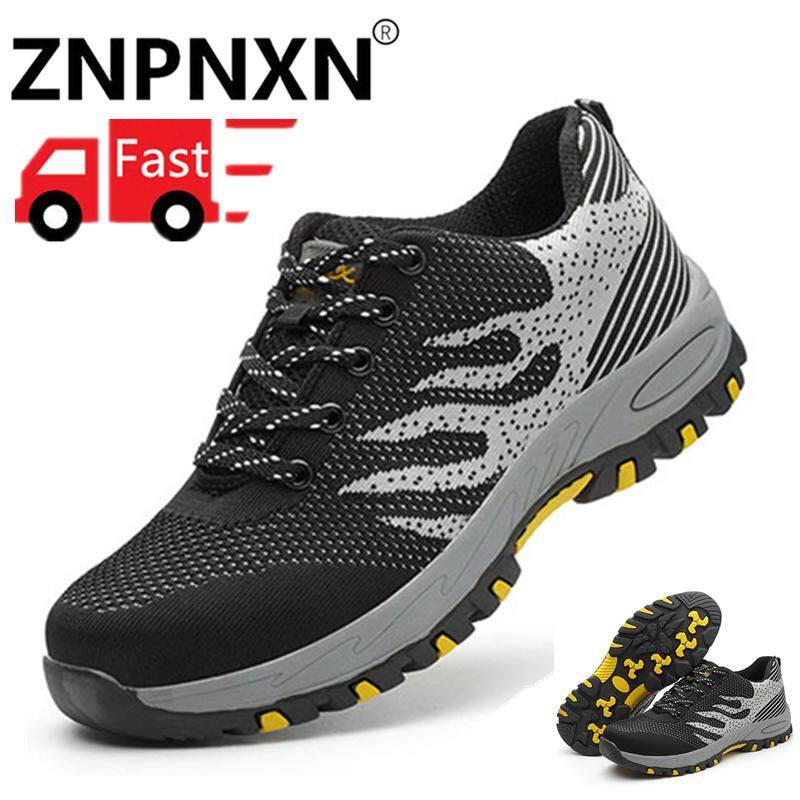 ZNPNXN Men's Work Shoes Men's Outdoor Work Boots Men's Outdoor Safety Shoes Size 39-46