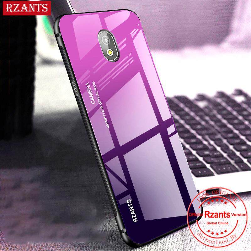 Rzants For Samsung Galaxy J7 Pro Case【Gradient】Smooth Tempered Glass Ultra- thin