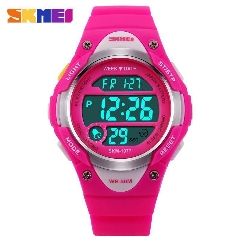 SKMEI Children Outdoor Sports Watches Boy Alarm Digital Watch Kids Stopwatch Waterproof Girls Wristwatches Clock 1077 bán chạy