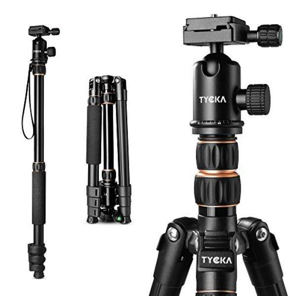 Tycka Compact Travel Tripod, support up to 12kg, with 360° ballhead , new leftwards flip-lock enhances safety and stability, 141cm Lightweight design, for Canon Nikon Sony cameras and more