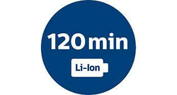 Powerful Li-Ion battery for 120 min operating time