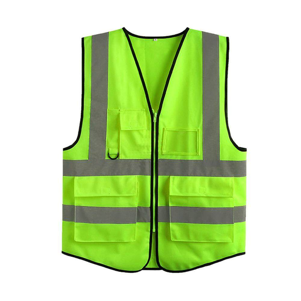Onlook Reflective Safety Vest Multi Pockets High Visibility Reflectivity Ansi Compliant Work Wear Green Orange Reflective Safety Vest Silver Strip M Xxl By Onlook.