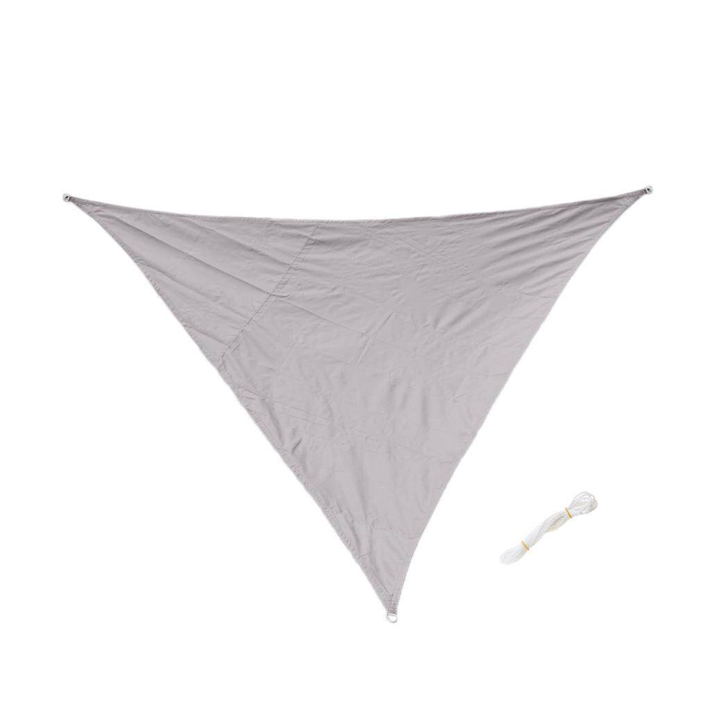 MagiDeal Triangle UV Block Sun Shade Sail Outdoor Garden Pool Deck Grey