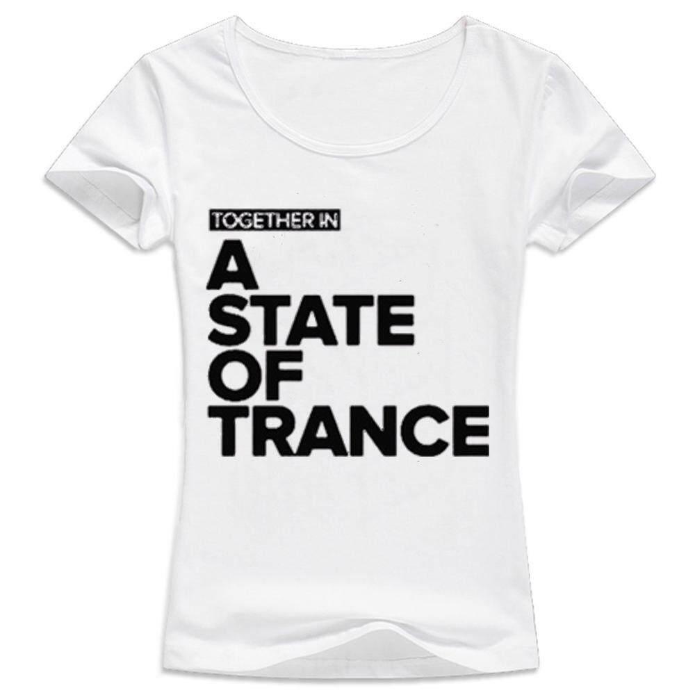 Wanita Kaus Kasual Lengan Pendek T Shirt Tshirt Kemeja Armin Van Buuren Bersama Dalam Keadaan Trance Musik DJ