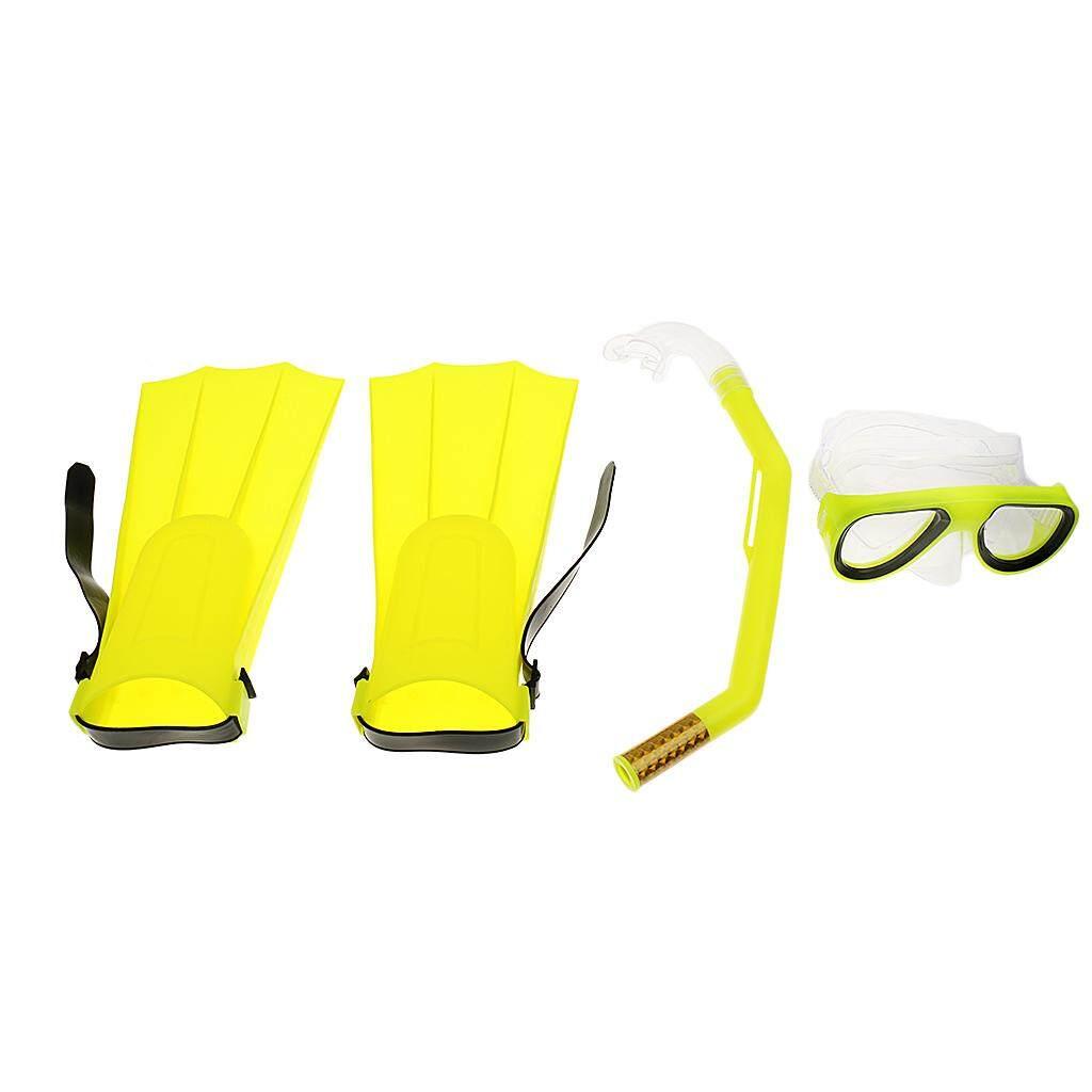 Jual Fin Renang Murah Berkualitas Kaki Katak Sepatu Seal Miracle Bersinar Snorkeling Masker Sirip Scuba Menyelam Snorkelling Set Kuning Internasional