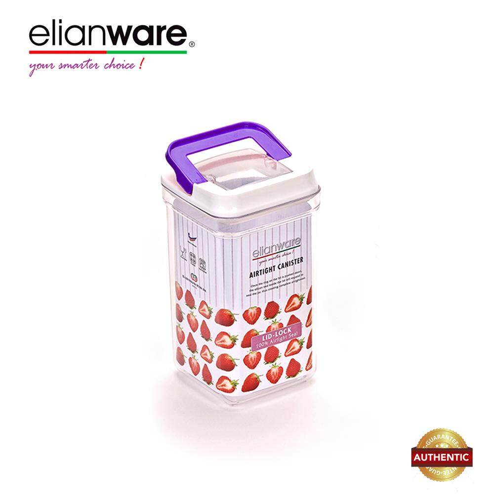 Elianware 2150ml Glass-Like Plastic Airtight Canister Clear Container Multipurpose Food Storage Keeper Box