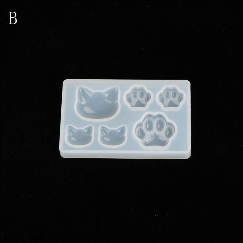 Resin Jewelry Mold Diy Silicone Crystal Cat Face Cats Claw Moon Stars Heart A By Variety Grace.
