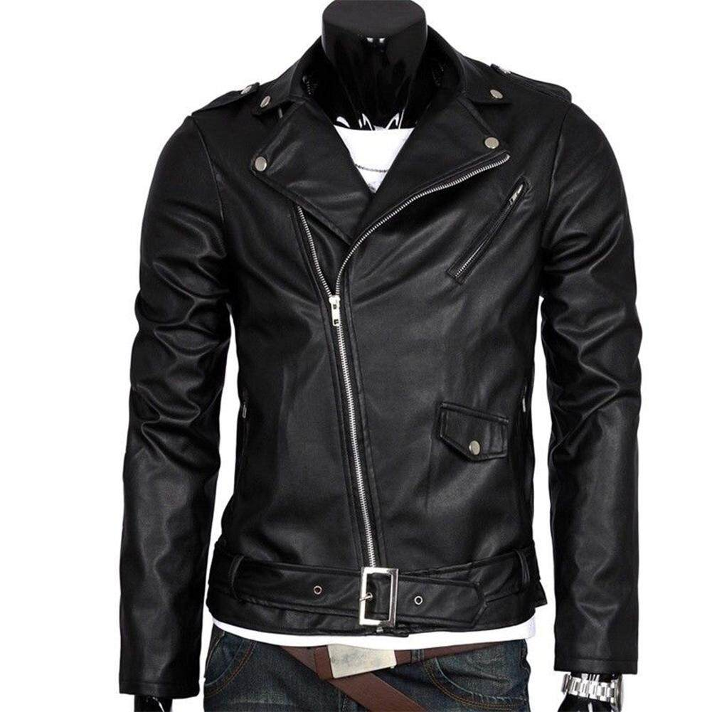 Big Sale Men Leather Jacket Slim Fit Motorcycle Jacket Zipper Casual Coat Spring Autumn Winter By Four Season Big Sale.