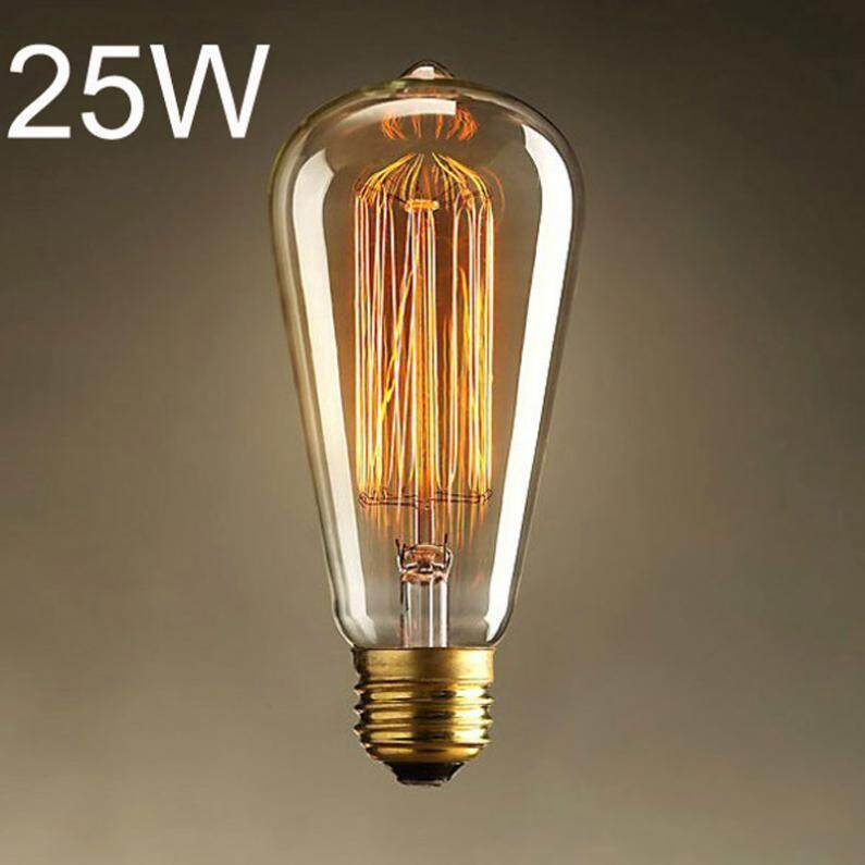 Philips Led Classic 75w A60 E27 Dimmable Cahaya Kuning Page 3 Source · Lampu bohlam edison. Source · E27 25W 220V Light Bulb Incandescent Bulb ST64 Retro ...