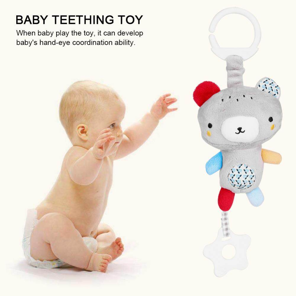 Animal Musical Baby Flush Toy Teether For Kid Toddler Gift Hang On Stroller Crib(bear) - Intl By Highfly.