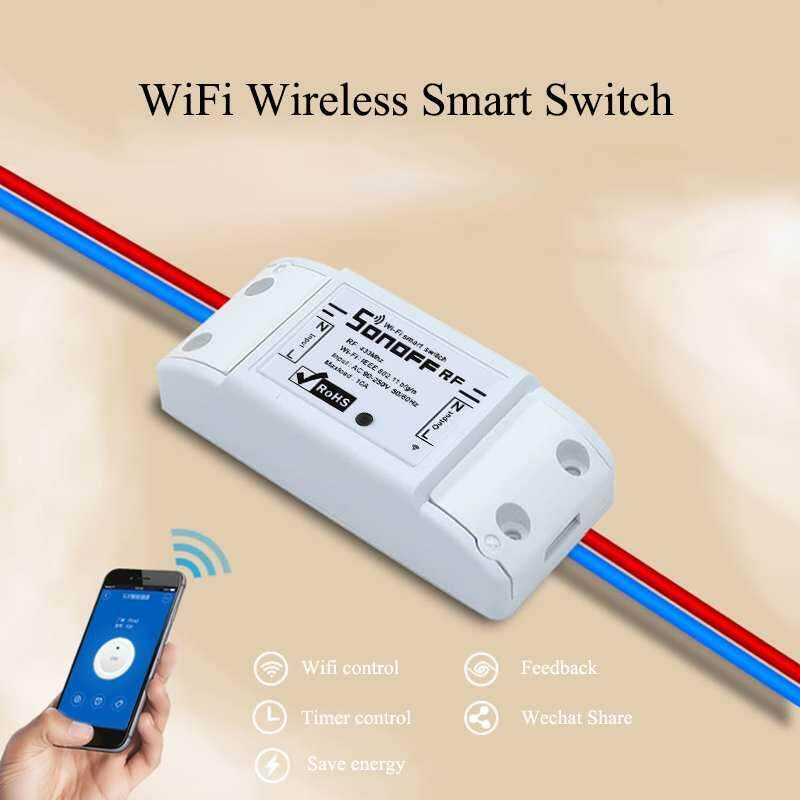 XJING SONOFF RF Smart WiFi Wireless Switch Module For Apple Android APP Control - intl