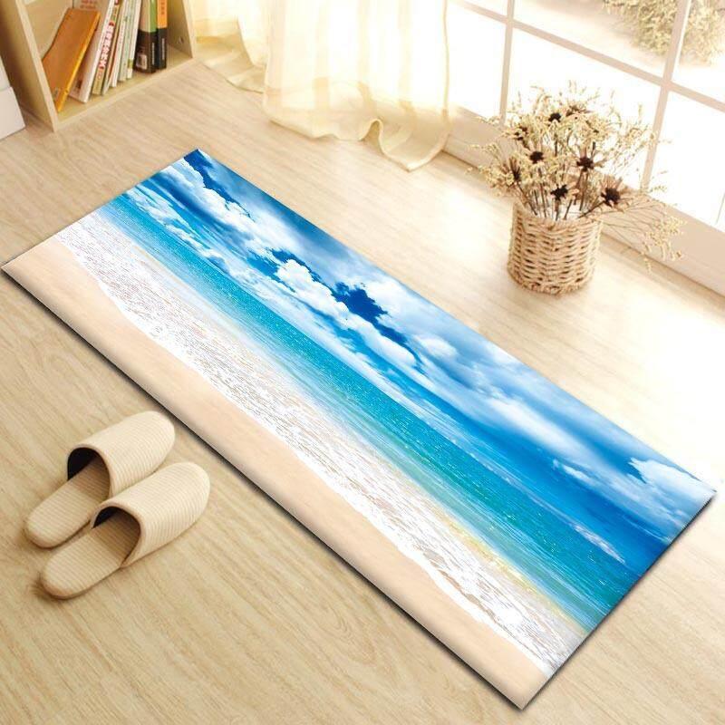 Long Bedroom Bedside Carpet Anti-slip Dustproof Kitchen Floor Mat Entrance Doormat Bath Toilet Area Rug 40x60cm - intl