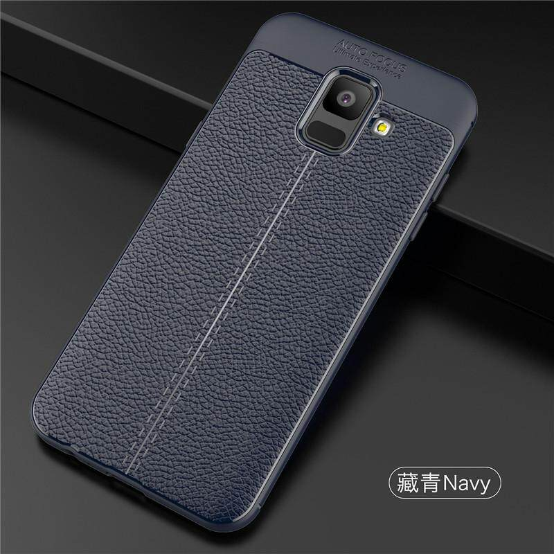 ... Sony Source · For Samsung Galaxy A6 2018 Case Shockproof Silicone PU Leather Back Cover Soft TPU Phone