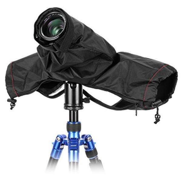 Neewer Kamera Pro Hujan Pelindung Cover Mantel Lengan Pelindung Debu Tahan Air Nilon Jas Hujan untuk Besar Canon, Nikon, Sony, pentax, Sigma Tamron dan Kamera DSLR (Hitam)